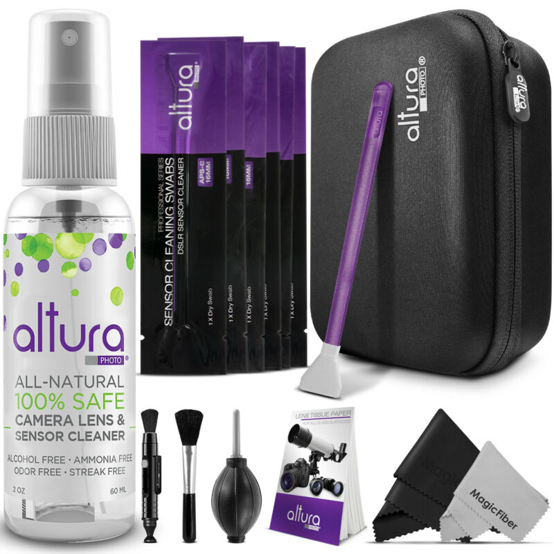 Altura Photo Camera & Lens Cleaning Kit for DSLR Lenses, APS-C Sensors and LCD