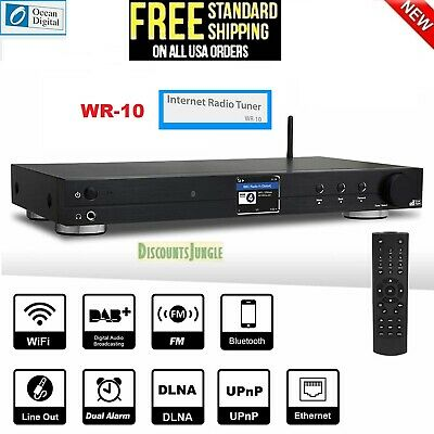 Ocean Digital WiFi FM Internet Component Radio Tuner (430 mm) WR10 Bluetooth