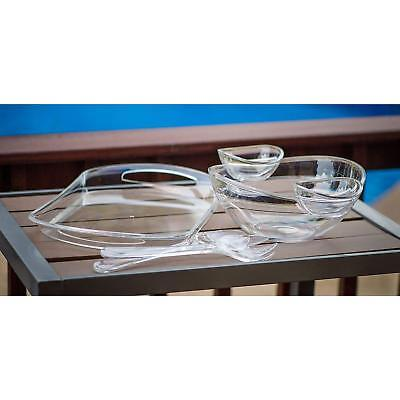 Clear Acrylic Serving Tray 6-Piece  ()