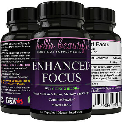 Brain Booster   Memory Focus   Mental Alertness Plus Mind   Clarity Enhancer