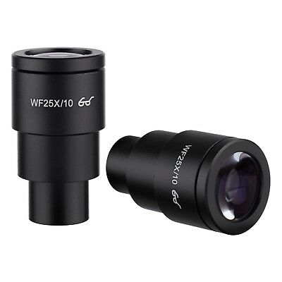 Amscope Ep25x30e Pair Of Extreme Widefield 25x Eyepieces 30mm For Microscopes