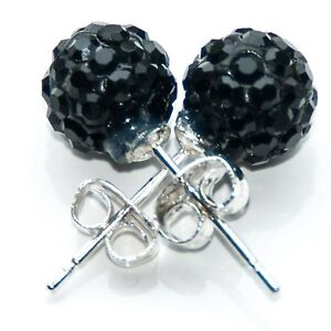 TOP QUALITY 10mm SHAMBALLA STUD EARRINGS / CRYSTAL CLAY DISCO BALL
