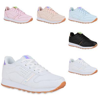 Damen Sportschuhe Laufschuhe Fitness Sneaker Metallic Schuhe 822496 Trendy Neu Metallic-schuhe