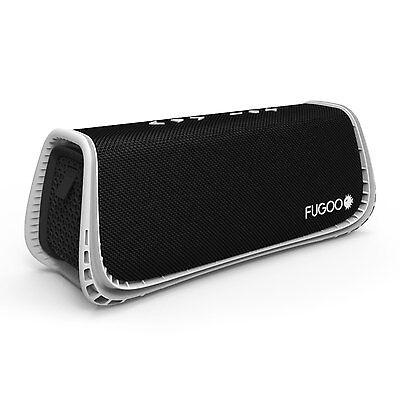 Fugoo Sport XL Portable Rugged Waterproof Bluetooth Speaker Black White 35 Hrs