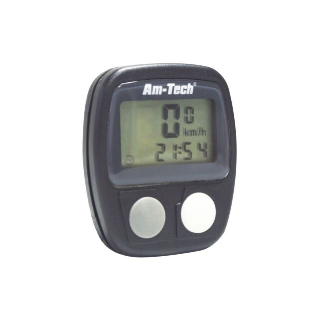 AM TECH 14 FUNCTION BICYCLE COMPUTER LCD DISPLAY BIKE ODOMETER CYCLING CLOCK