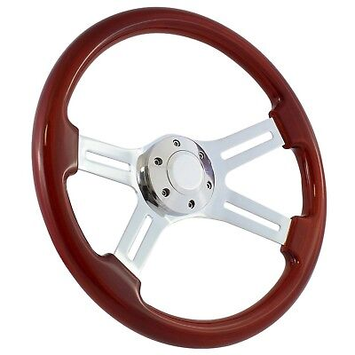 "85-88 Ford Ranger (midsize), Bronco Ii, Aerostar 15"" Wood Billet Polished Ste..."