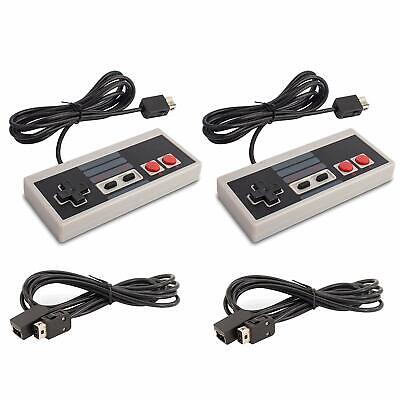 2 Stück Retro NES Controller Gamepad passend für Nintendo NES Classic Mini NEU