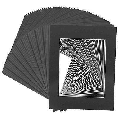 Golden State Art Pack of 50, Acid-Free Black Pre-Cut 11x14 P