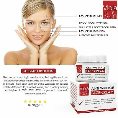 VIOLA SKIN POWERFUL AgeDefying Face Cream - Vitamin C Anti Wrinkle Best Seller
