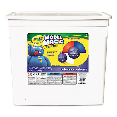 Crayola Model Magic Modeling Compound 8 oz each Blue/Red/White/Yellow 2lbs.
