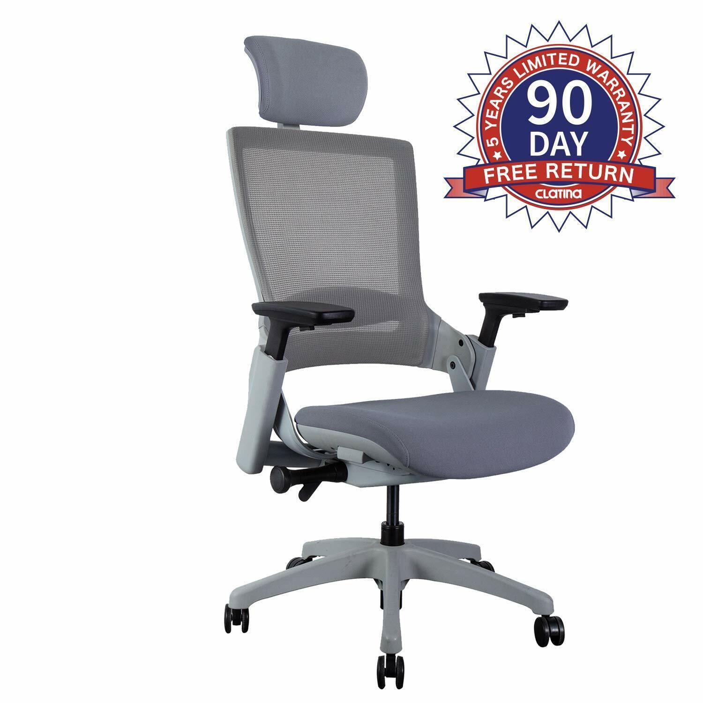 Ergonomic Headrest Home Office Chairs Desk Top Computer Swiv