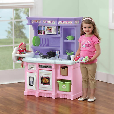 NEW Step2 Little Bakers Kids Play Kitchen with 30 Piece Accessory Set
