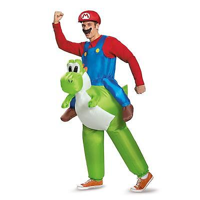 Disguise Men's Mario Riding Yoshi Child Costume  (Yoshi Halloween Costume Child)