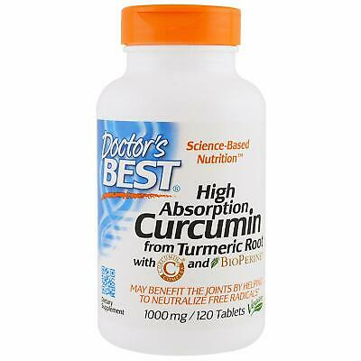 Doctors Best Curcumin From Turmeric With Bioperine 500 Mg 120 Caps
