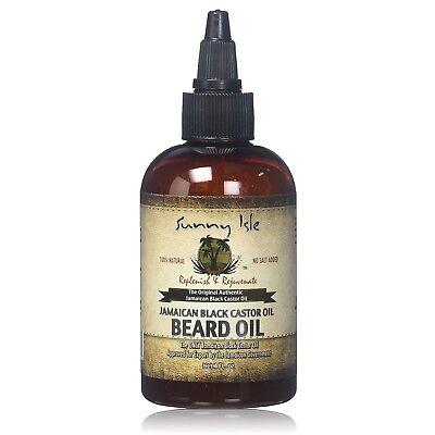 (All Natural Beard Castor Oil Hair Facial Mustache Growth Fast Grow Rich Texture )