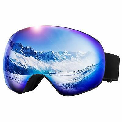 Snow Ski Goggles Choice Anti Fog Spherical Lenses 100% UV400 Protection Helmet F