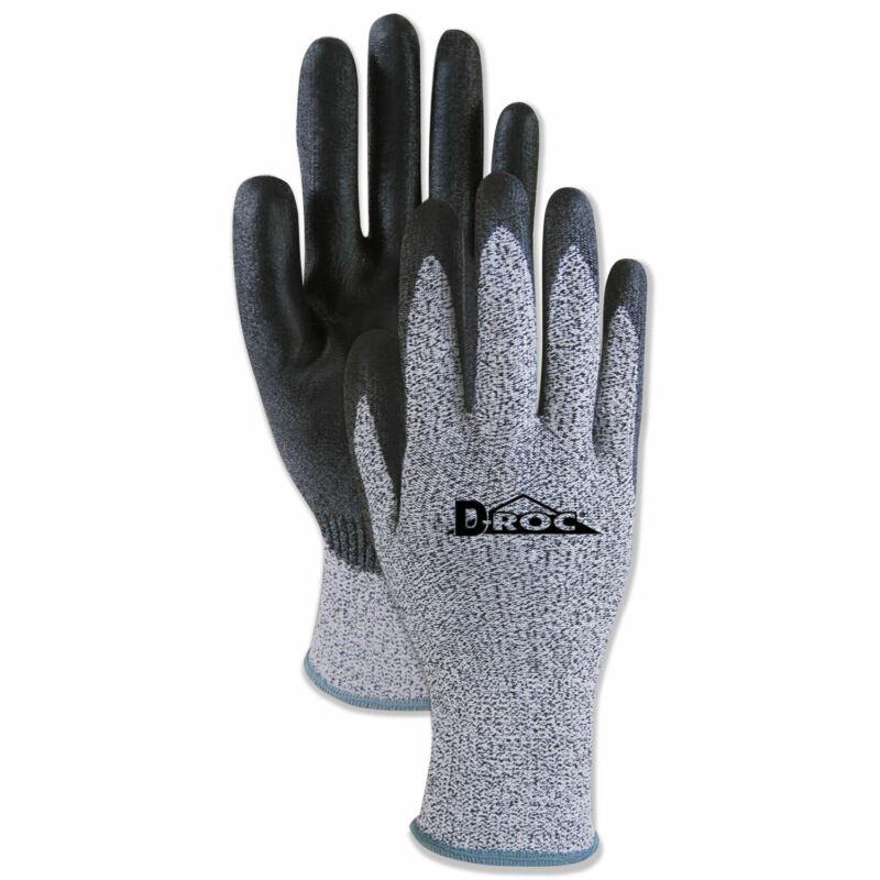 Boardwalk Palm Coated Cut-Resistant HPPE Glove Salt & Pepper/Black Size 8