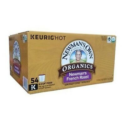 - Newman's Own Organics French Roast Extra Bold Coffee K-Cup 54 K-Cups Pods