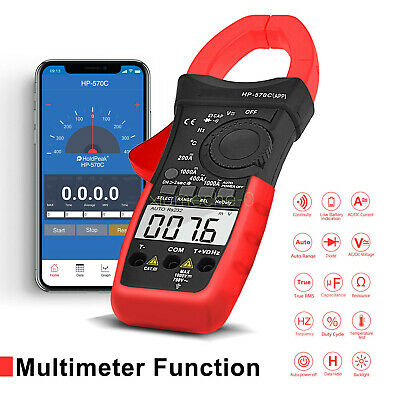 App Digital Clamp Meter Dc Current 4000 Counts Acdc Volt 1000a Handheld Tester