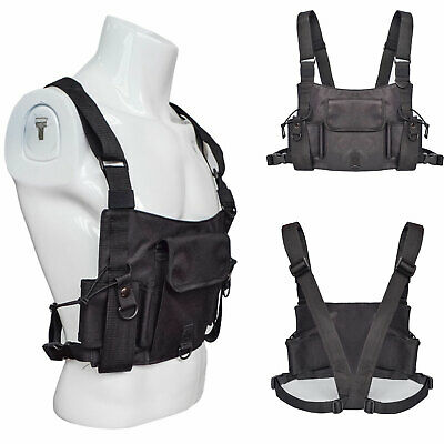 Waterproof Unisex Chest Rig Bag Vest Hip Hop Streetwear Tactical Harness Pack US