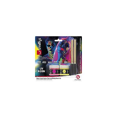 Latex Body Paint (Smiffys Neon Liquid Latex Face & Body Paint Kit)