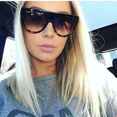 New Kim Kardashian Oversized S Cat Eye Sunglasses P Top Aviator Black Genuine (Kardashian Cat Eye Sunglasses)