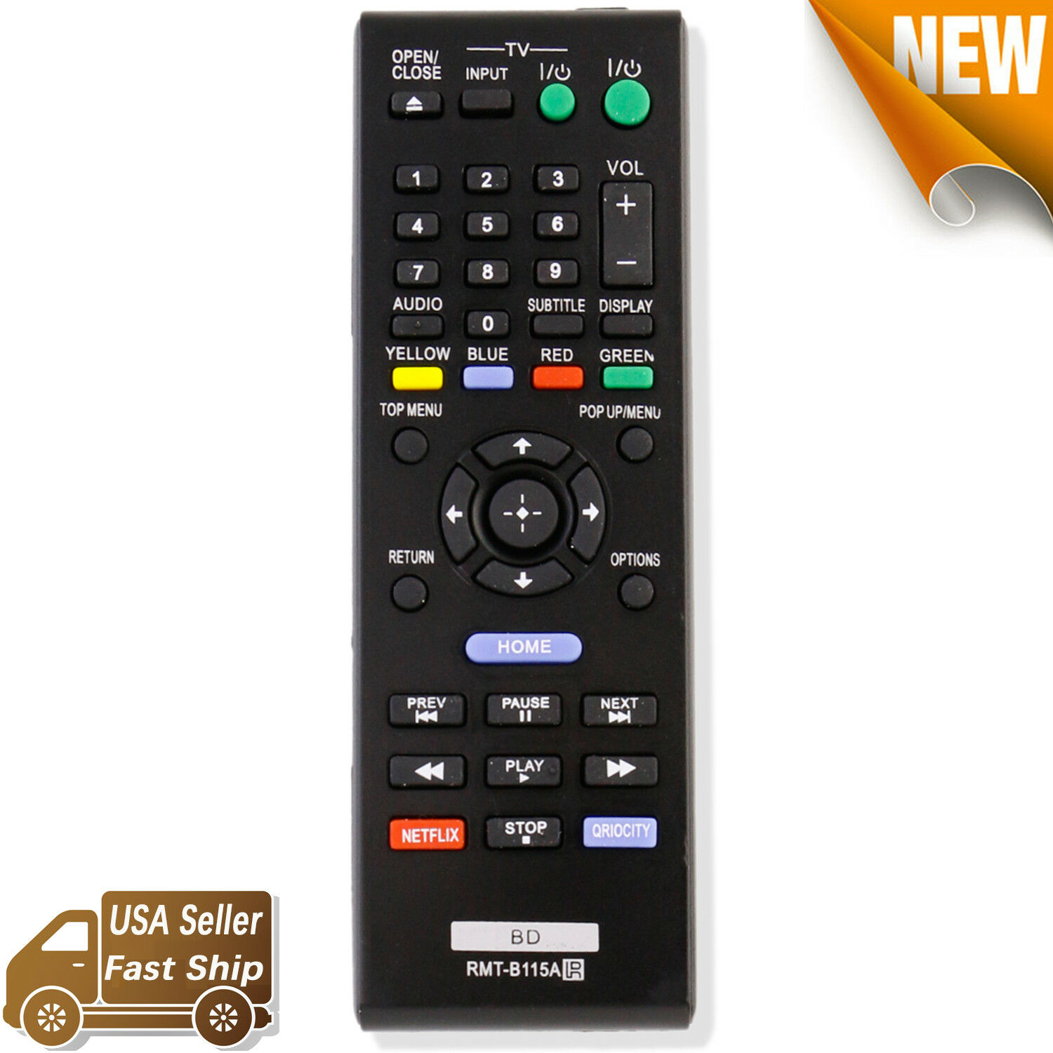 RMT-B115A Replace for Sony Bluray Remote Control DVD Player