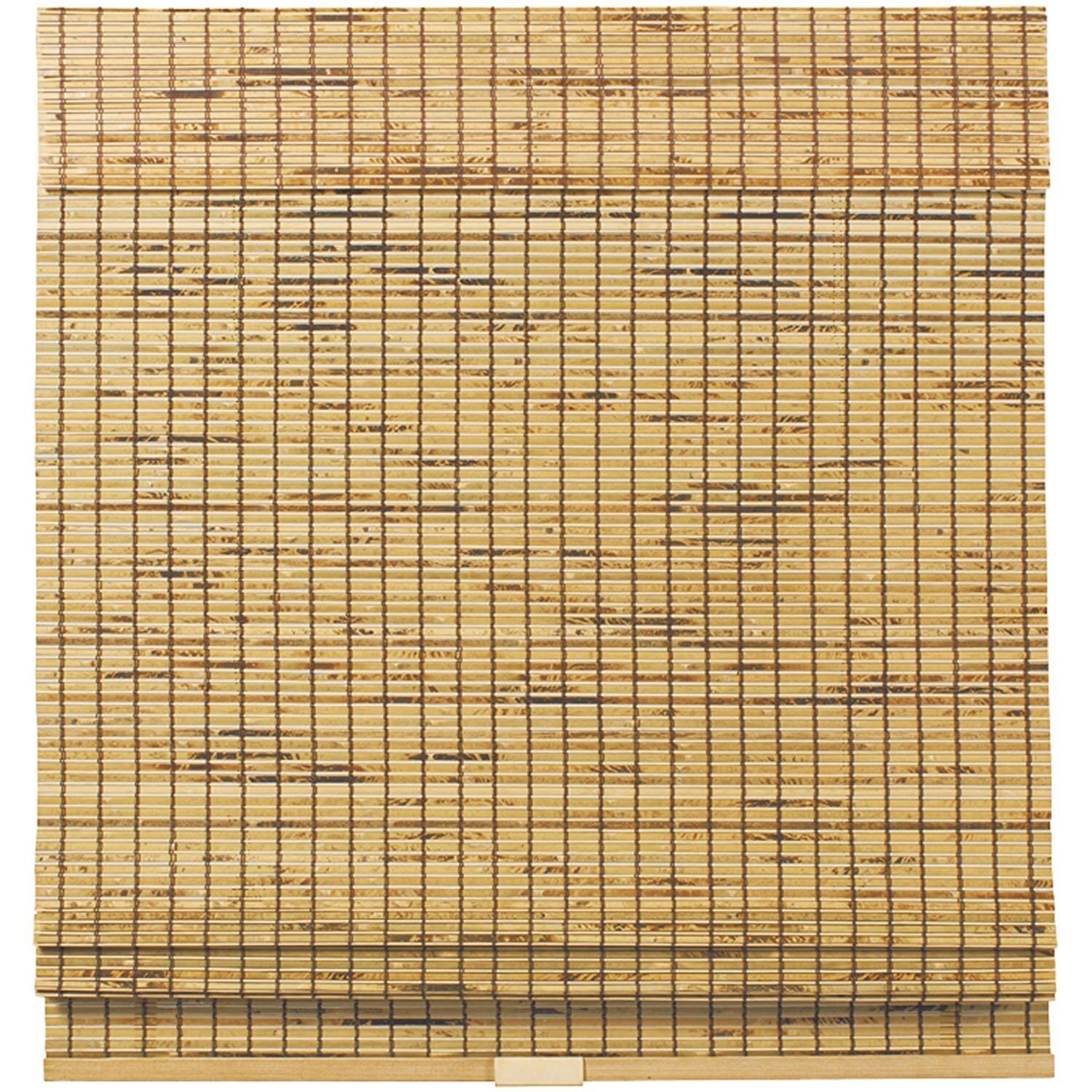 Cordless Woven Wood Bamboo Roman Shade- 2 Colors - Free Ship