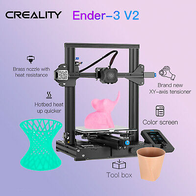 2020 Creality Ender-3 V2 FDM 3D Printer Silent Motherboard All-Metal Integrated