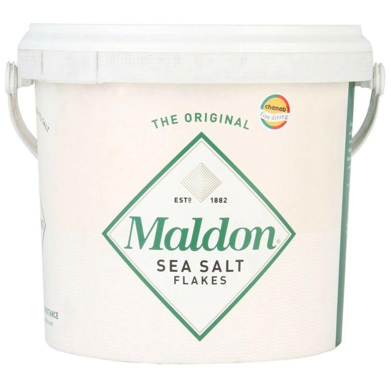Maldon sea salt flakes 3.3LBS Bucket *USA SELLER*