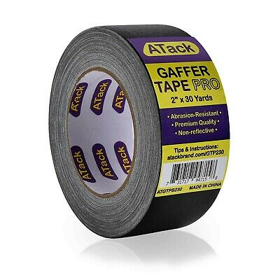 Atack Gaffer Tape Pro Black 2-inches X 30 Yards