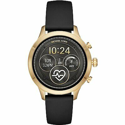 Michael Kors MKT5053 Smart Watch 41MM Women's Black Silicone Watch