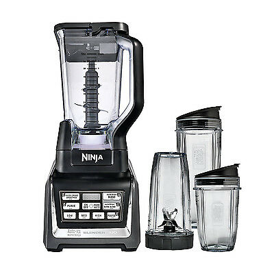 Nutri Ninja 1500W 72 Ounce Ninja Blender Duo With Auto Iq And Cups   Bl642w