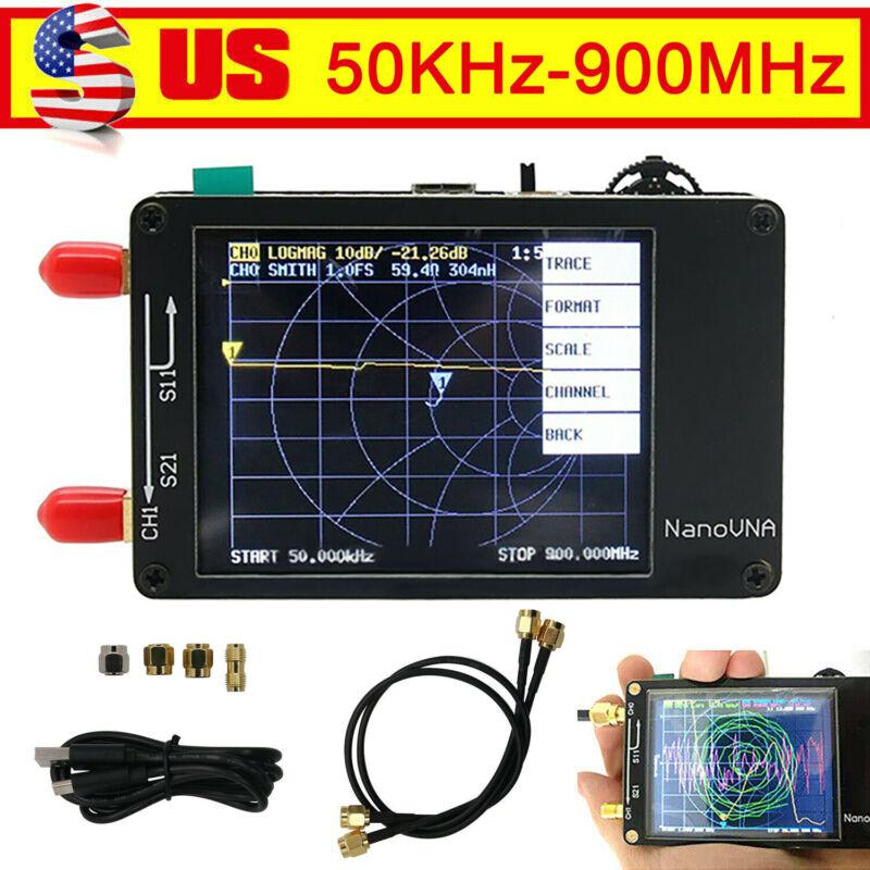 """50KHz-900MHz NanoVNA Vector Network Analyzer HF VHF UHF Antenna 2.8""""TFT"""