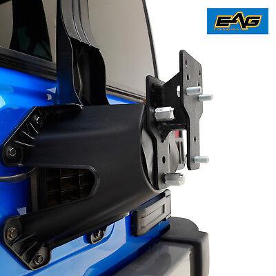 EAG 76-18 Jeep Wrangler CJ/YJ/TJ/JK/JL Tire Relocation Bracket Kit (Black)