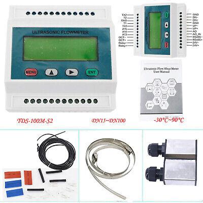 Ultrasonic Flowmeter Modular Water Flow Meter Transducer Dn15-100m Tds-100m