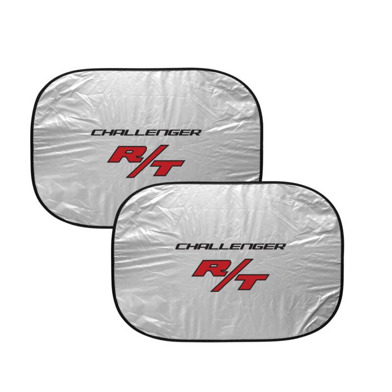 "Dodge Challenger R/T Logo Dual Panels 28"" W x 24"" L Folding Windshield Sun Shade"