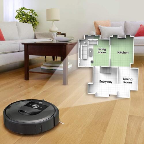 iRobot Roomba i7 7150 App-Controlled Self-Charging Robot Vacuum Charcoal I715020