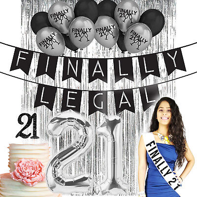 21st Birthday Party Decorations Supplies (21st Birthday Decorations 21 Birthday Party Supplies 21 Finally)