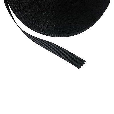 Gurtband, Bänder 25mm breit, 10 Meter lang, Dicke 2mm, Polypropylen (schwarz)