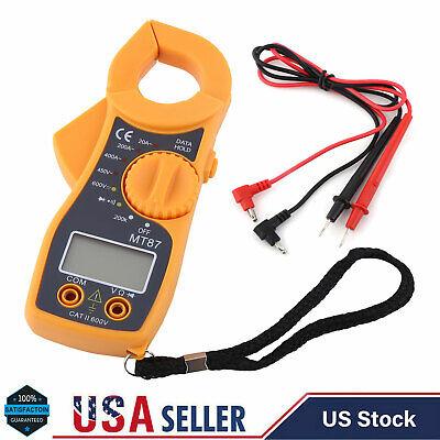 Digital Clamp Meter Multimeter Acdc Voltmeter Auto Range Volt Amp Ohm Tester Us