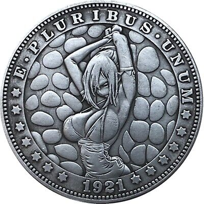 Hobo Nickel  1921-D USA Morgan Dollar Tied Girl COIN