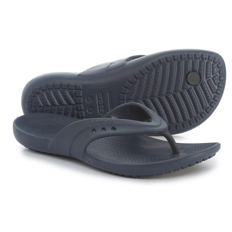 CROCS Kadee Flip Flop Sandals, Women's Size 6 Navy NWT FREE USA SHIPPING