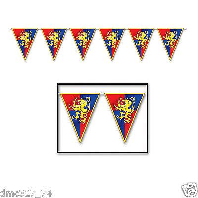 MEDIEVAL Renaissance Party Decoration Knight Castle CREST Pennant FLAG BANNER](Banner Medieval)