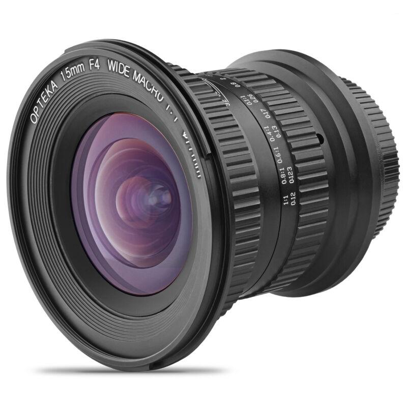 Opteka 15mm f/4 1:1 Macro Wide Angle Lens for Nikon F DX FX Mount DSLR Cameras