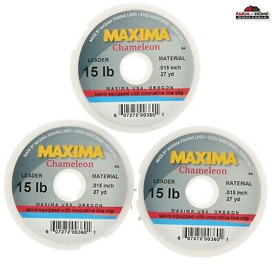 Select One NIP Maxima Chameleon Leader Wheels 2//5//6//810//12//15# 27yd