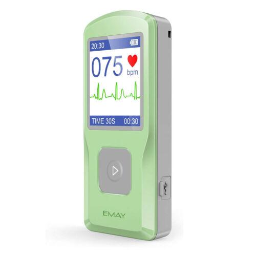 EMAY Portable EKG Monitor - Handheld EKG Monitoring Device with PC software