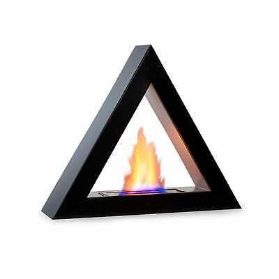 Bio Ethanol Fireplace Burner Space Heater SmokeFree triangle Design 4hours