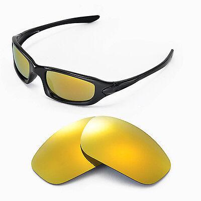oakley fives squared polarised  polarized 24k gold lenses