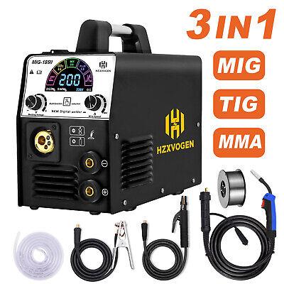 4in 1 Led Mig Welder 220v Gas Gasless Dc Inverter Arc Tig Mig Welding Machine